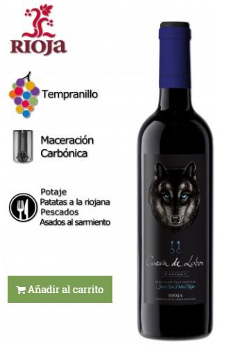 vino elaborado con tempranillo