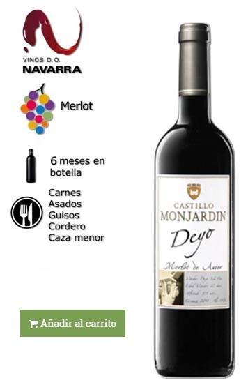vino elaborado con uva merlot
