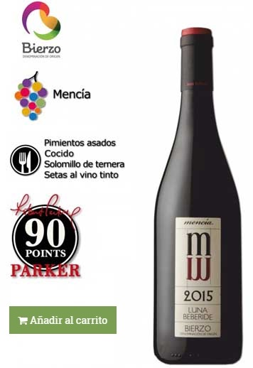 vino elaborado con uva mencia