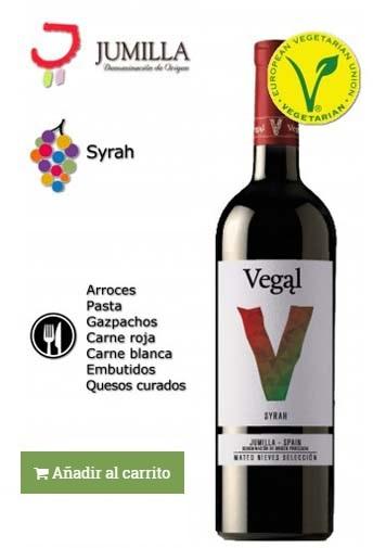 vino elaborado con syrah