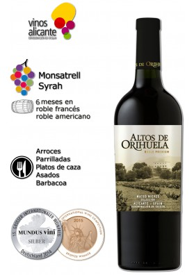 Vino Altos de Orihuela Roble 2015