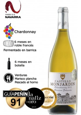 Vino Castillo de Monjardin Chardonnay 2015 FERMENTADO EN BARRICA