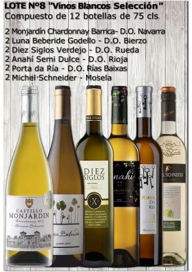 """Lote Nº 8 """"Vinos Blancos Selección"""""""