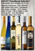 """Lote Nº 7 """"Vinos Blancos Selección"""""""