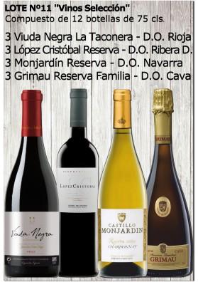 """Lote Nº 11 """"Vinos Selección"""""""